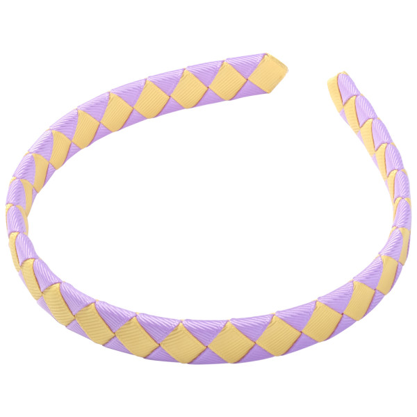 School Hair Accessories purple and gold Woven Hairband