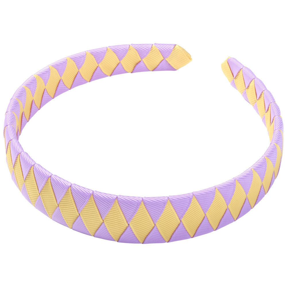 School Hair Accessories purple and gold Woven Headband
