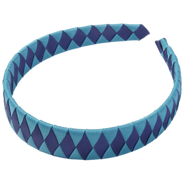 School Hair Accessories jade and navy blue Woven Headband