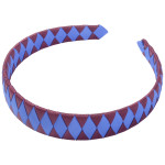 School Hair Accessories burgundy and royal blue Woven Headband