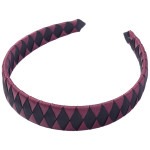 School Hair Accessories burgundy and black Woven Headband