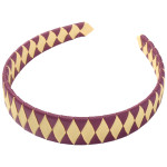 School Hair Accessories burgundy and gold Woven Headband