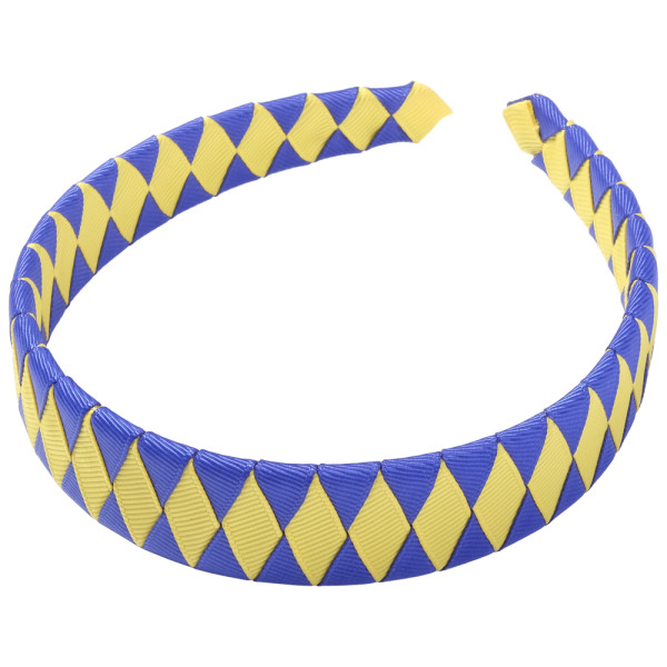 School Hair Accessories cobalt royal blue and yellow Woven Headband
