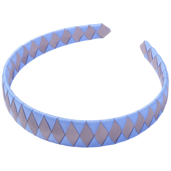 School Hair Accessories sky blue and grey Woven Headband