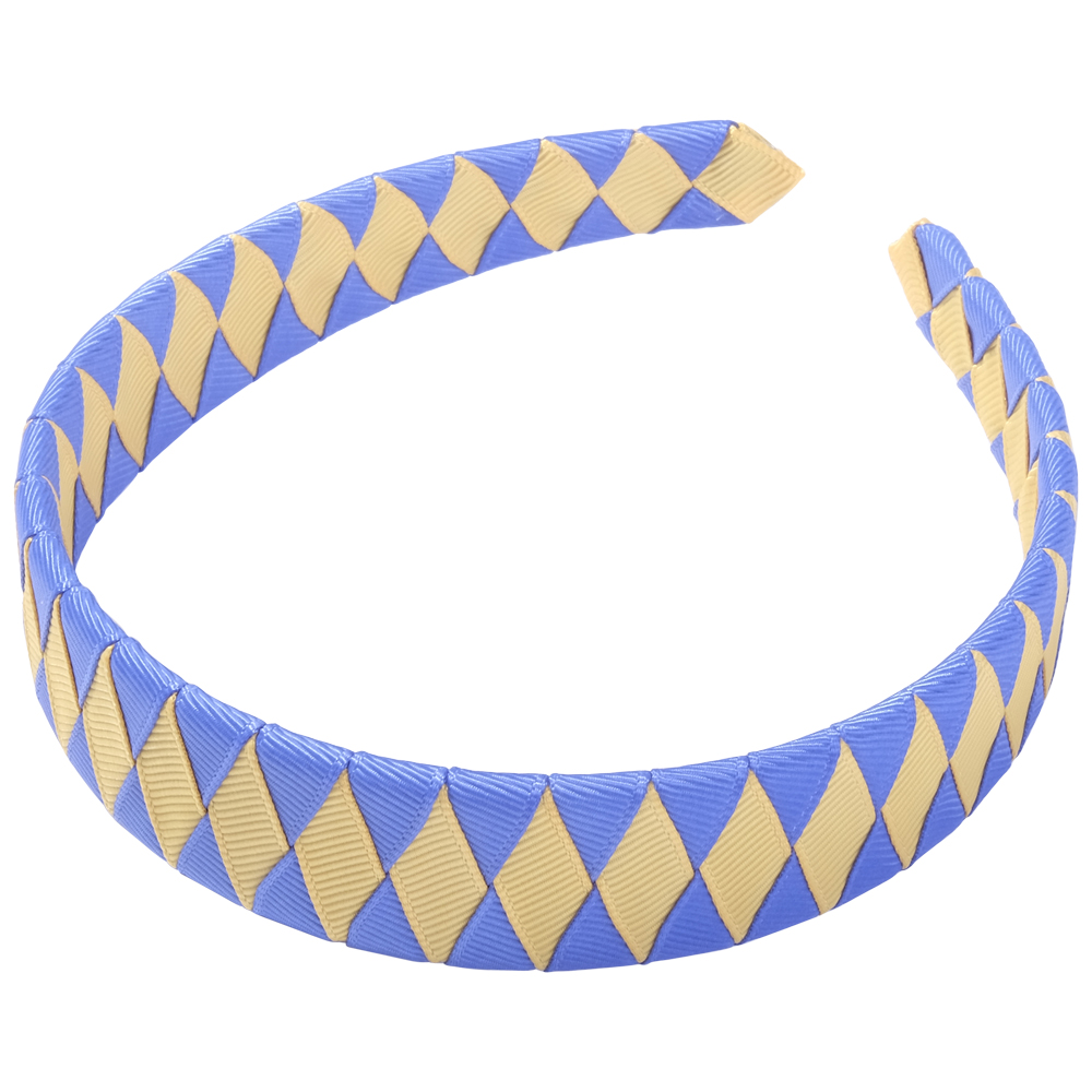 School Hair Accessories royal blue and gold Woven Headband