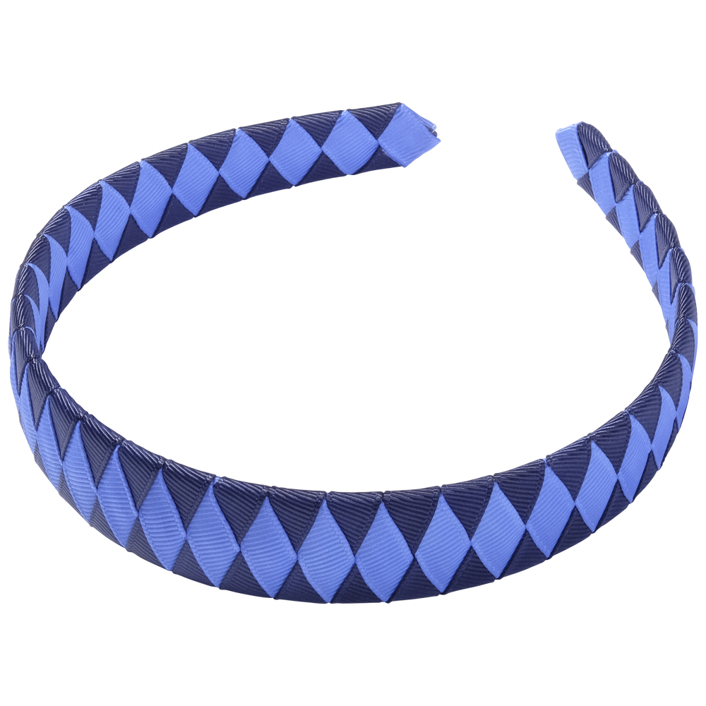 School Hair Accessories navy blue and royal blue Woven Headband