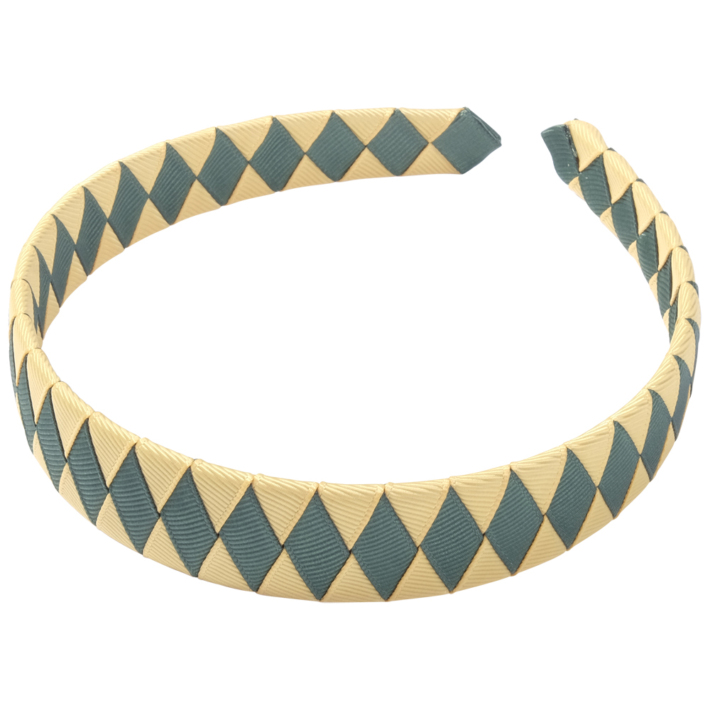 School Hair Accessories green and gold Woven Headband