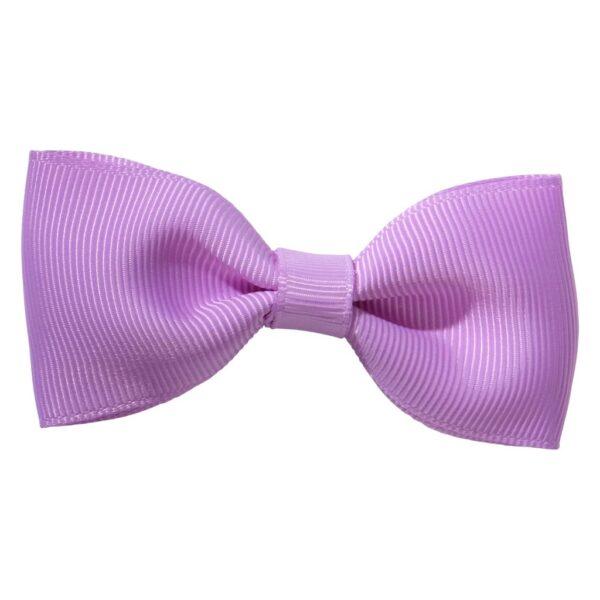 Violet colour ribbon bow girls school hair clip