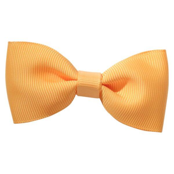 Gold colour ribbon bow girls school hair clip