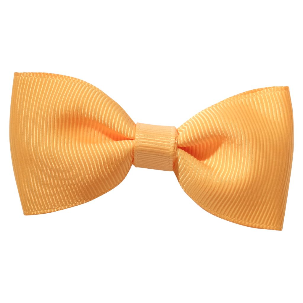 Gold colour ribbon bow girls school hair clip