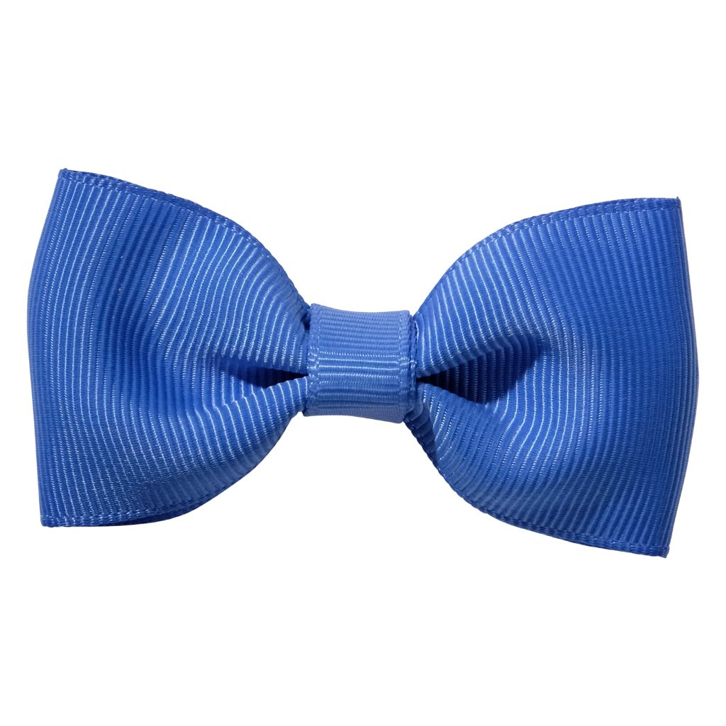 Royal light blue ribbon bow girls school hair clip