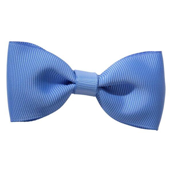 Bluebird blue ribbon bow girls school hair clip