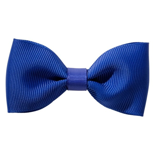 Cobalt Royal blue ribbon bow girls school hair clip