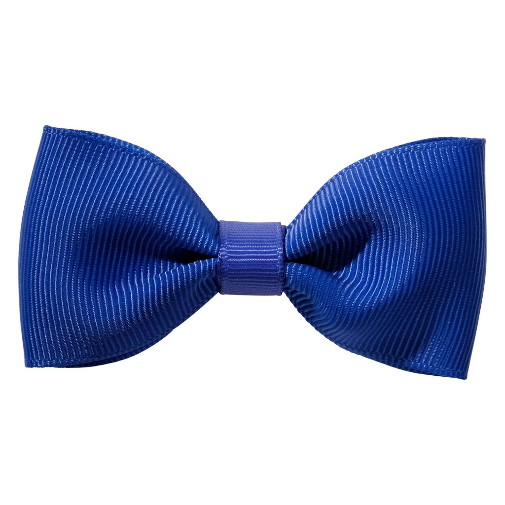 Cobalt Royal blue ribbon bow girls school hair clip