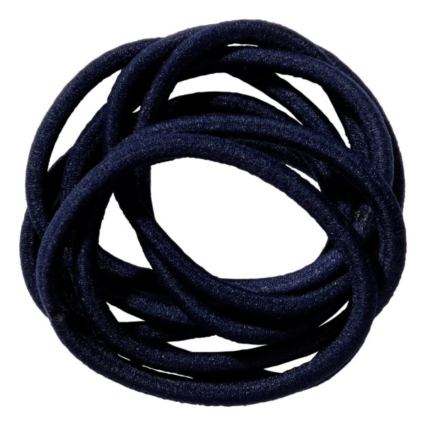 School Hair Accessories navy blue elastics