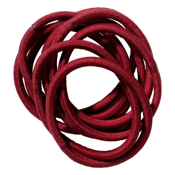 School Hair Accessories burgundy elastics