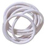 School Hair Accessories white elastics