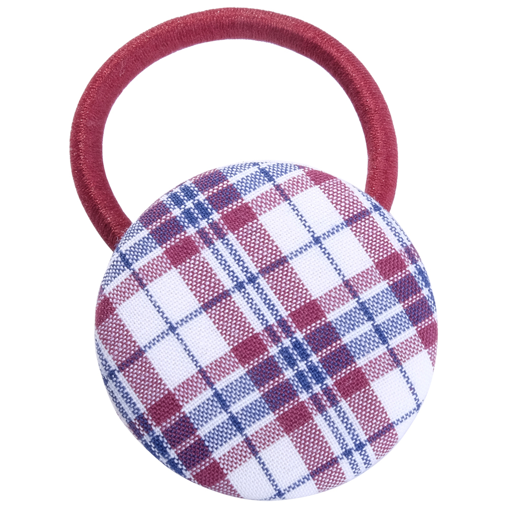 School Hair Accessories Uniform fabric covered button
