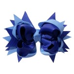 School hair accessories Boutique school bow hair clip blue