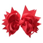 School hair accessories Boutique school bow hair clip red