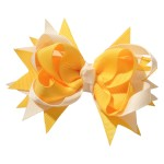 School hair accessories Boutique school bow hair clip yellow