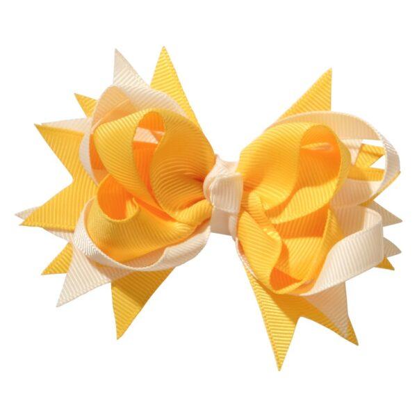 School hair accessories Boutique school bow hair clip yellow