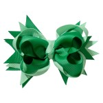 School hair accessories Boutique school bow hair clip green