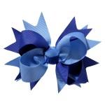 School hair accessories Hair bow clip royal blue