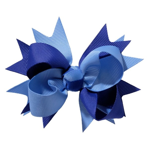 School hair accessories Hair bow clip royal blue