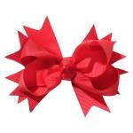 School hair accessories Hair bow clip red