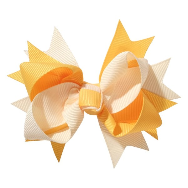 School hair accessories Hair bow clip gold