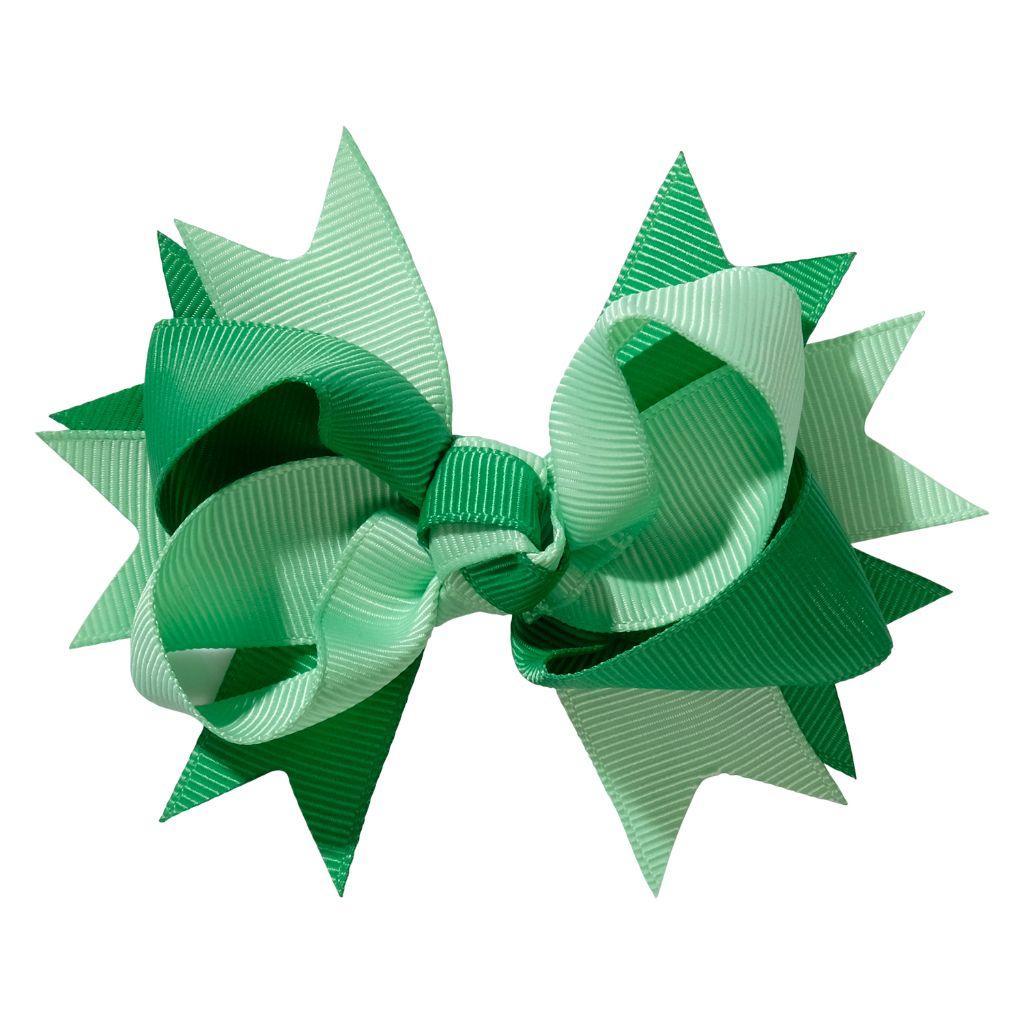 School hair accessories Hair bow clip green