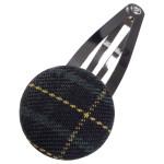 School uniform fabric hair accessories snap clip