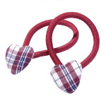 School hair accessories fabric covered button elastics