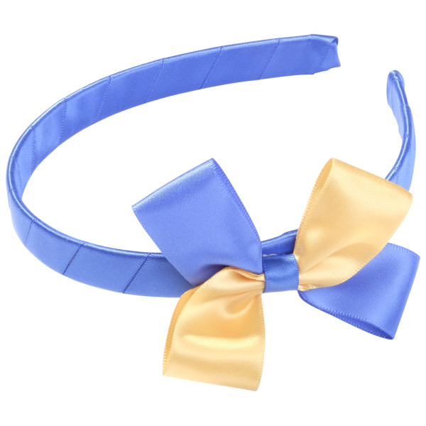 School Hair Accessories royal blue and gold bow headband