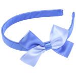 School Hair Accessories royal blue and sky blue bow headband