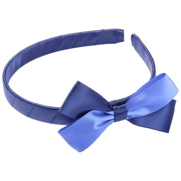 School Hair Accessories navy blue and royal blue bow headband