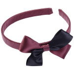 School Hair Accessories burgundy and black bow headband