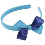 School Hair Accessories jade and navy blue bow headband