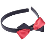 School Hair Accessories red and black bow headband