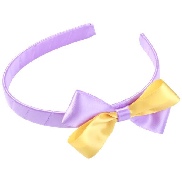 School Hair Accessories purple and gold bow headband