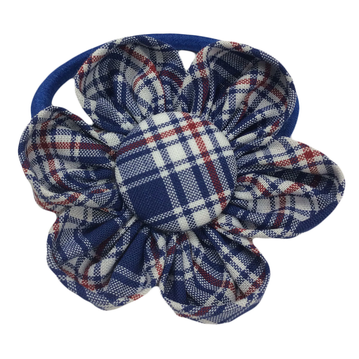 School fabric Flower Elastic Hair Tie - School Pride  b770f6db13c