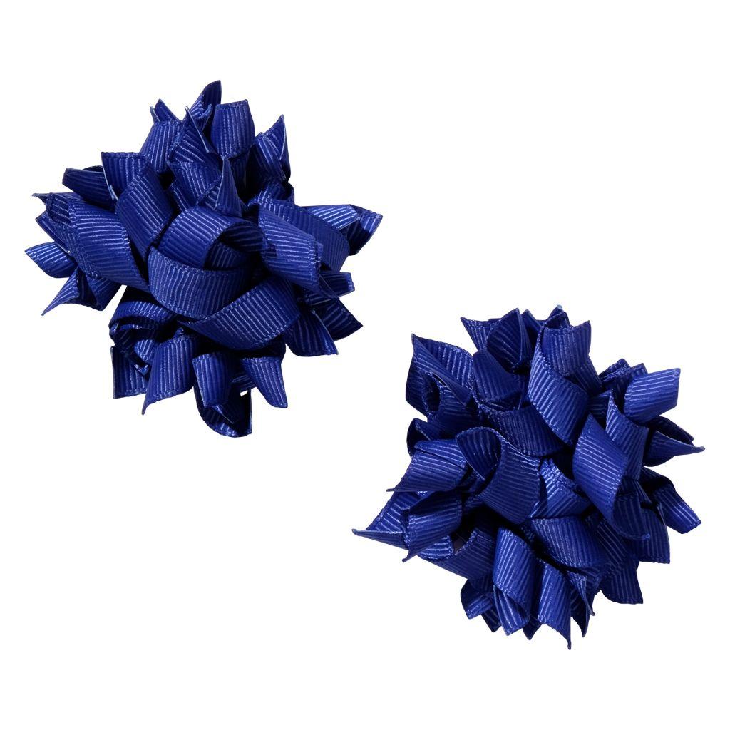 School hair accessories Korker bow hair clips cobalt blue colour