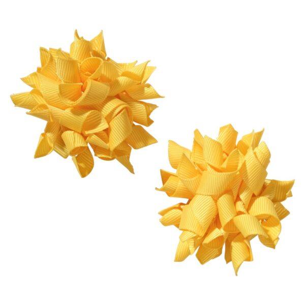 School hair accessories Korker bow hair clips gold colour