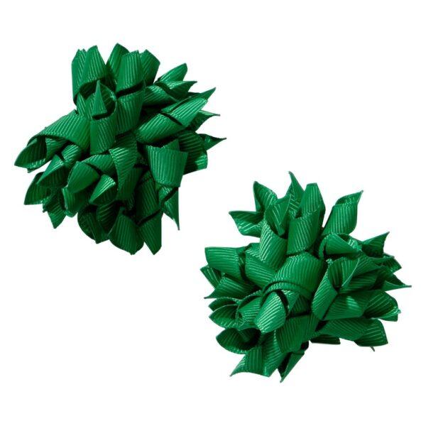 School hair accessories Korker bow hair clips green colour