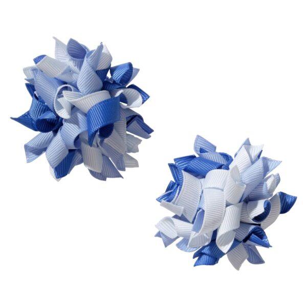 School hair accessories Korker bow hair clips light blue mix