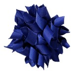 School hair accessories Korker ribbon hair alligator clip royal cobalt blue