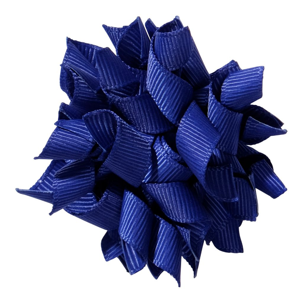 School hair accessories Korker ribbon hair alligator clip royal cobalt blue