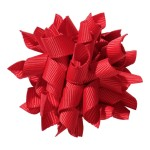 School hair accessories Korker ribbon hair alligator clip red