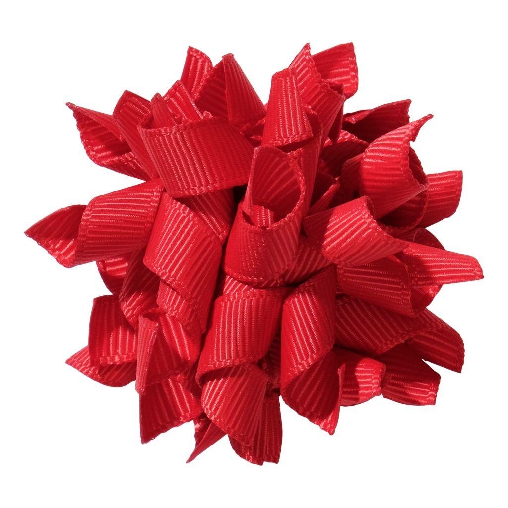 School hair accessories Korker ribbon hair alligator clip red